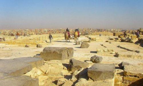 Zdjecie EGIPT / Giza / Giza / Giza - widok na Kair