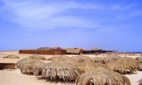 Zdjecie EGIPT / okolice Hurghady / w poblizu Hurghady / pod takim parasolem , krem z filtrem niepotrzebny!