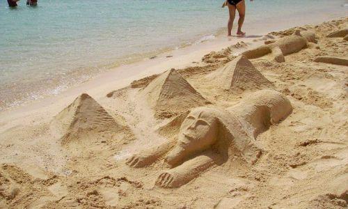 Zdjecie EGIPT / okolice Hurghady / okolice Hurghady / Sfinks i plaża