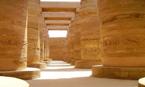 Zdjecie EGIPT / Karnak / Karnak / kolumnada w światyni