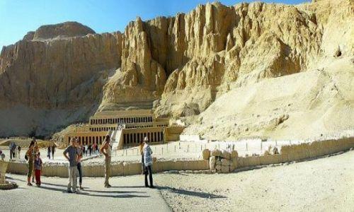 Zdjęcie EGIPT / Teby / Deir el Bahari / Światynia Hatszepsut