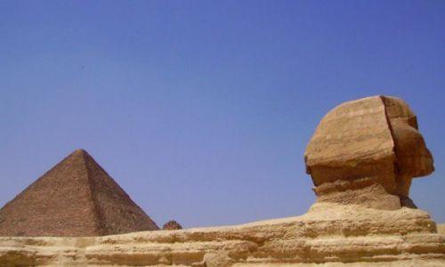 Zdjecie EGIPT / Giza / Giza / dwa symbole Egiptu