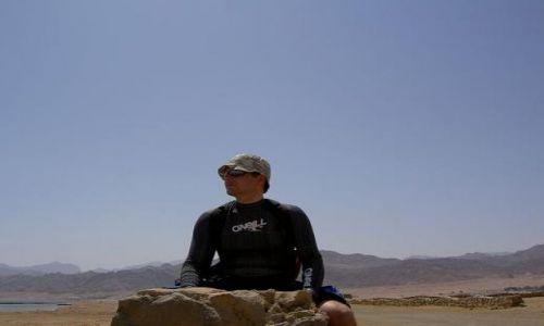 Zdjecie EGIPT / - / Dahab / mierzeja w lagunie w pobliżu Dahab