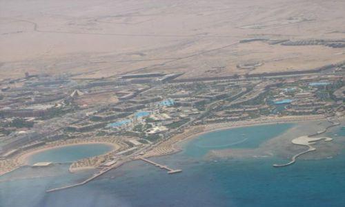 EGIPT / - / Hurghada / Hurghada z lotu ptaka