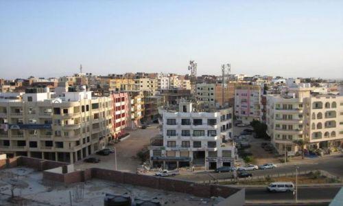 EGIPT / - / Hurghada / panorama z dachu hotelu