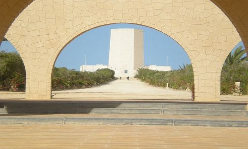 Zdjecie EGIPT / El Alamein / Muzeum pamięci włoskich żołnierzy poległych w II wojnie światowej / Muzeum pamięci