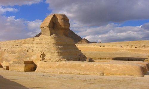 Zdjecie EGIPT / -Afryka / Giza / Wielki Sfinks