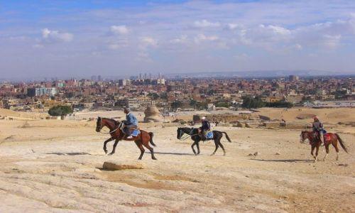 Zdjęcie EGIPT / Afryka / Giza / jeźdźcy