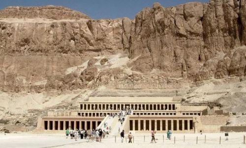 Zdjęcie EGIPT / - / Luxor / Świątynia Hatszepsut