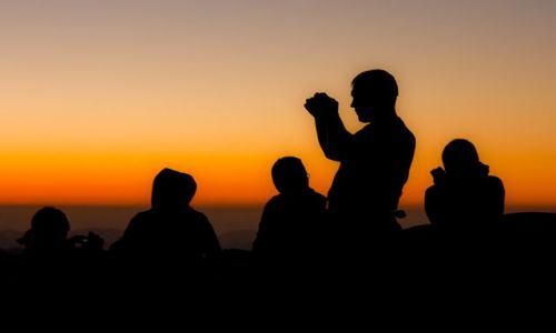 Zdjęcie EGIPT / Półwysep Synaj / Góra Mojżesza / Góra Mojżesza - wschód słońca