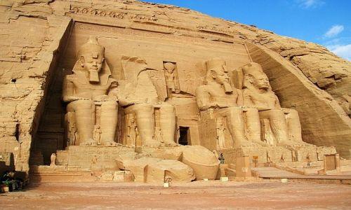 EGIPT / Górny Egipt / Abu Simbel / Świątynia Ramzesa II