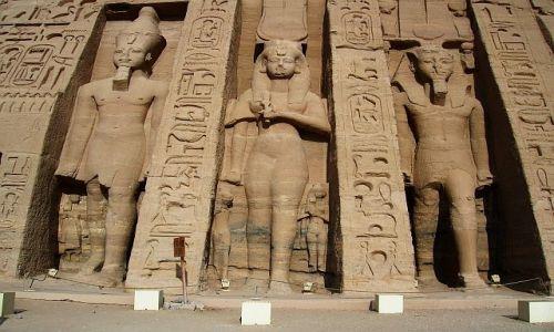 Zdjęcie EGIPT / Górny Egipt / Abu Simbel / Świątynia Nefertari