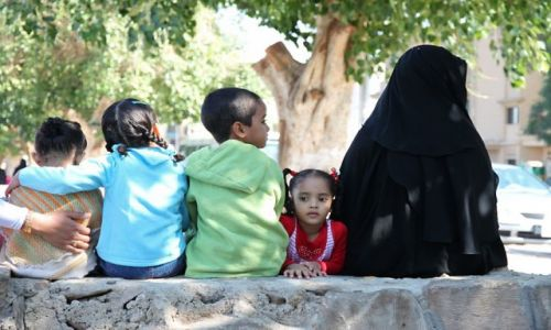 EGIPT / - / Asuan / mama i córka