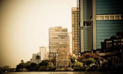 Zdjecie EGIPT / - / od strony Nilu / Kair tak ogromn