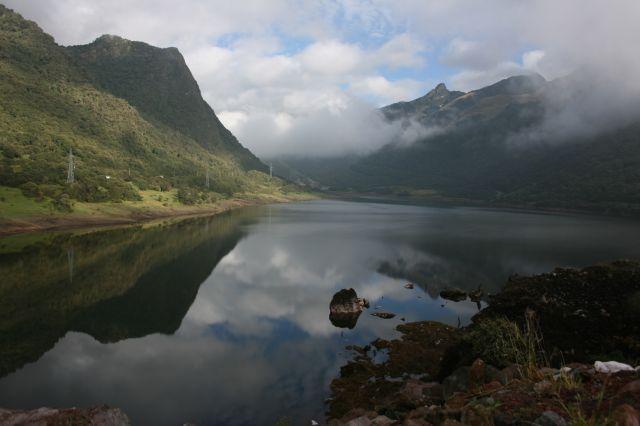 Zdjęcia: 1,5 godziny jazy autem od kito (kiepskie drogi), Idealne jezioro na wys. 4000 m n.p.m., EKWADOR