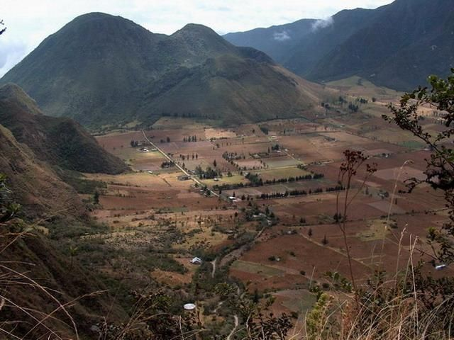 Zdjęcia: Krater Pululahua, Wieś we wnętrzu krateru, EKWADOR
