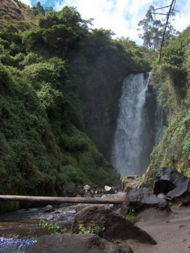 Zdj�cia: Okolice Otavalo, Wodospad Peguche, EKWADOR