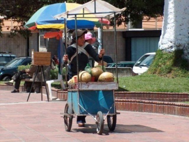 Zdjęcia: Riobamba, Świeże mleko z kokosów, EKWADOR