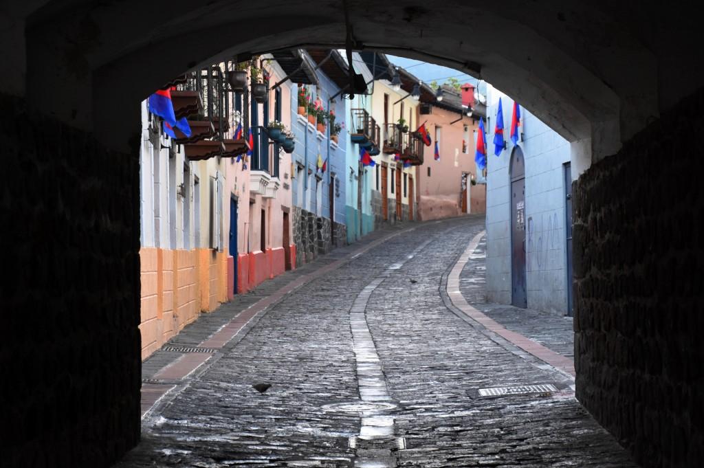 Zdjęcia: Stare miasto, Quito, Uliczka w Quito, EKWADOR