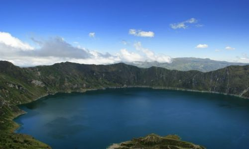 Zdjecie EKWADOR / Zumbahva / Zumbahva / Lago verde Quilotoa
