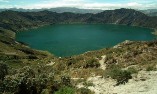 Zdjecie EKWADOR / - / Quilotoa / Quilotoa - Kaldera