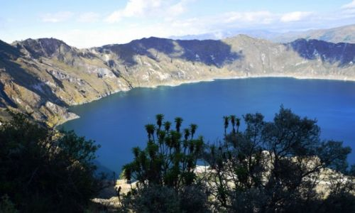 Zdjecie EKWADOR / Andy / Jezioro Quilotoa / Jezioro w wygasłym wulkanie