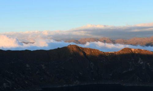 Zdjecie EKWADOR / Andy / Jezioro Quilotoa / Wieczór nad jeziorem