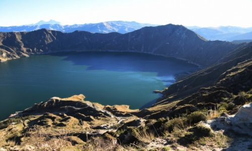Zdjecie EKWADOR / Andy / Jezioro Quilotoa / Raniutko