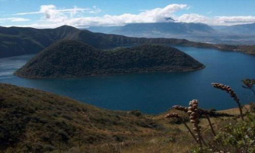 Zdjecie EKWADOR / brak / Okolice wsi Cotacachi / Laguna Cuicocha - Jezioro Świnki morskiej