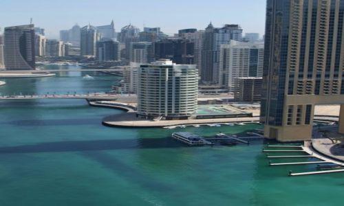 Zdjecie ZJEDNOCZONE EMIRATY ARABSKIE / marina / Dubaj / z 32 piętra