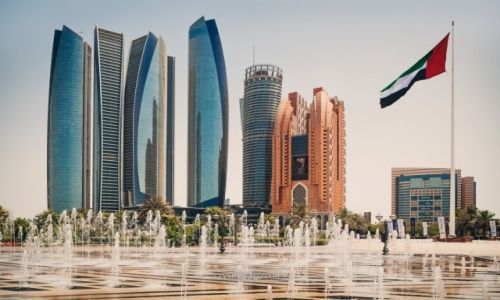 Zdjęcie ZJEDNOCZONE EMIRATY ARABSKIE / Abu Dhabi / Etihad Towers / Wiatr