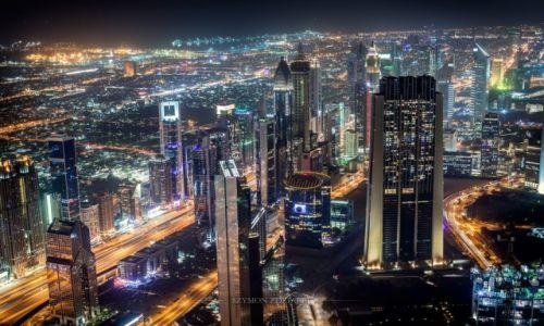 Zdjęcie ZJEDNOCZONE EMIRATY ARABSKIE / Dubai / Burj Khalifa / Na dachu