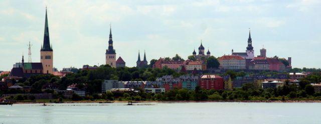 Zdjęcia: Tallin, Widok na Tallin , ESTONIA