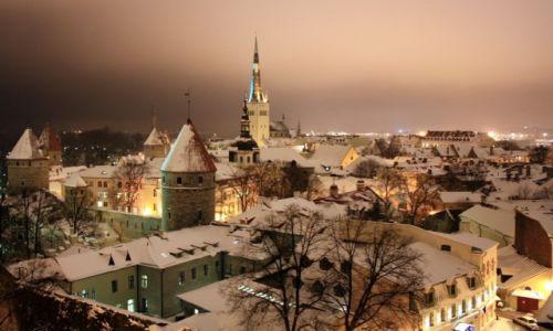 ESTONIA / Harjumaa / Tallin / Zimowy Tallin
