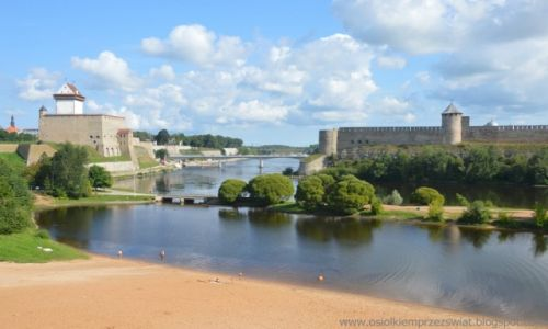 Zdjecie ESTONIA / Narva / Narva / granica rosyjsko-estońska