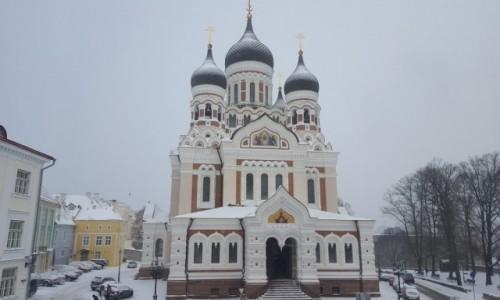 Zdjęcie ESTONIA / Tallin / Tallin / Sobór w zimowej odsłonie