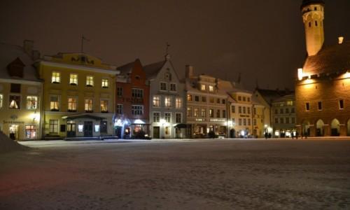 Zdjecie ESTONIA / Harjumaa / Tallinn / Tallinn nocą
