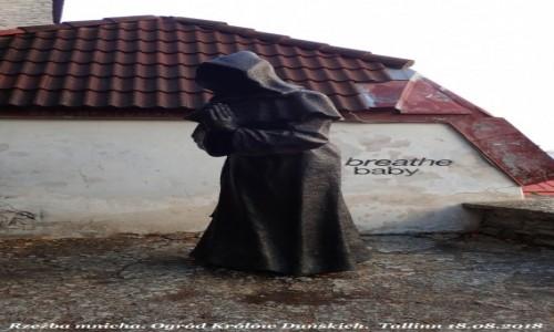 Zdjecie ESTONIA / - / Tallinn / czarny mnich - rzeźba