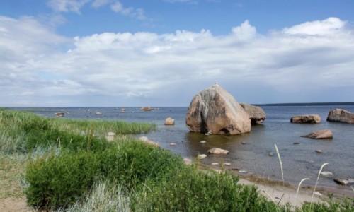 Zdjecie ESTONIA / - /  Park narodowy Lahemaa / Pozostałe po epoce lodowcowej głazy narzutowe.