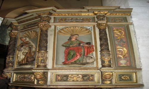 Zdjecie ESTONIA / Tallin / Tallin - Stare Miasto - Kościół św.Ducha / Ambona
