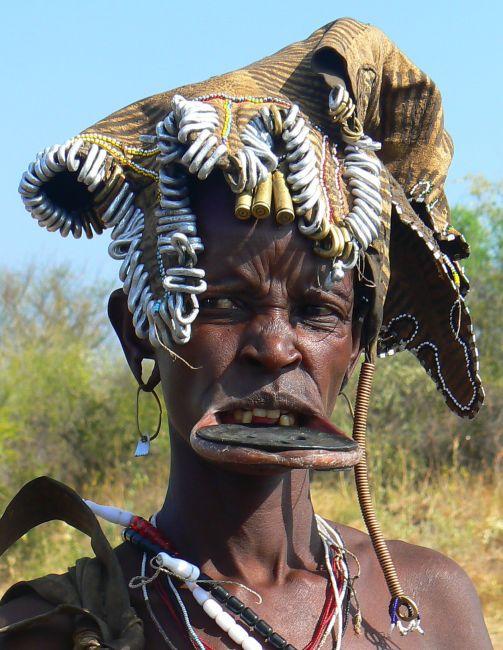 Zdjęcia: Dolina Omo, Mursi'ańska teściowa., ETIOPIA