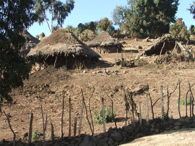 Zdjęcia: Siemen Mountains, Góry Siemen, Wioska, ETIOPIA