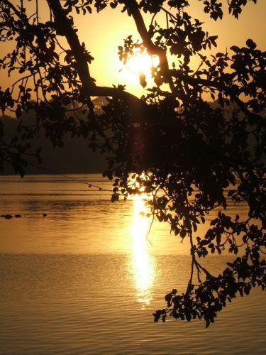 Zdjęcia: Bahir Dar, jezioro Tana, Wschód słońca- jezioro Tana, ETIOPIA
