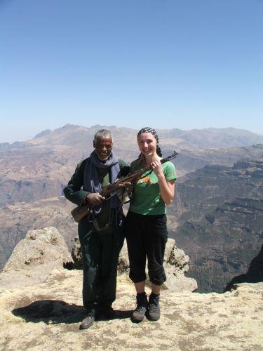 Zdjęcia: Siemens Mountains, Góry Siemen, Nasz przewodnik i moja lepsza połowa, ETIOPIA