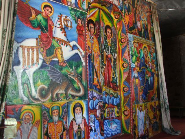 Zdjęcia: wyspy na jeziorze Tana, Bahir Dar, Malowidła w monastyrach, ETIOPIA