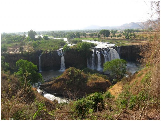 Zdjęcia: Tis Ysat/Tis Abbay, Etiopia Północna, Wodospad Nilu Błękitnego - Tis Abbay, ETIOPIA