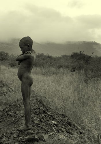 Zdjęcia: wioska Mursi, Dolina Omo, (-), ETIOPIA