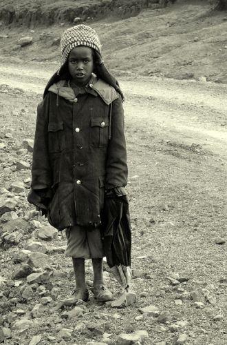 Zdjęcia: Góry Simen, północna Etiopia, pastereczka, ETIOPIA