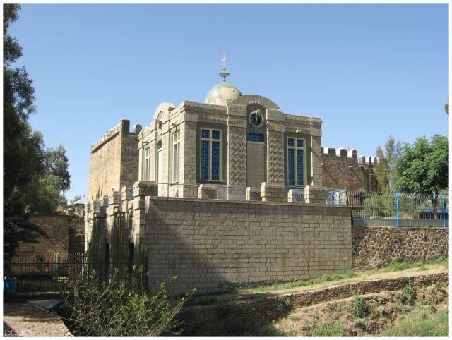 """Zdjęcia: Axum, Etiopia Północna, """"Dom"""" Arki Przymierza, ETIOPIA"""