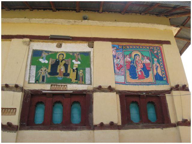 Zdjęcia: Yeha, Etiopia Północna, Yeha - ściana kościółka, ETIOPIA